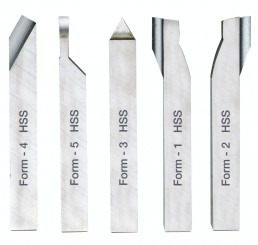 Cutting tools of high quality cobalt HSS steel, ground.