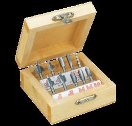 10-piece wood router cutter set