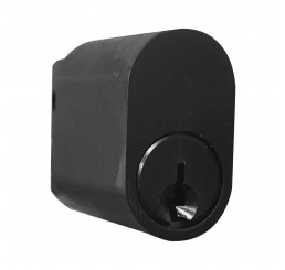 Black - Oval Cylinder - Keyed to Differ