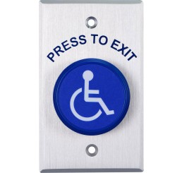 PUSH BUTTON WITH DISABLED SYMBOL